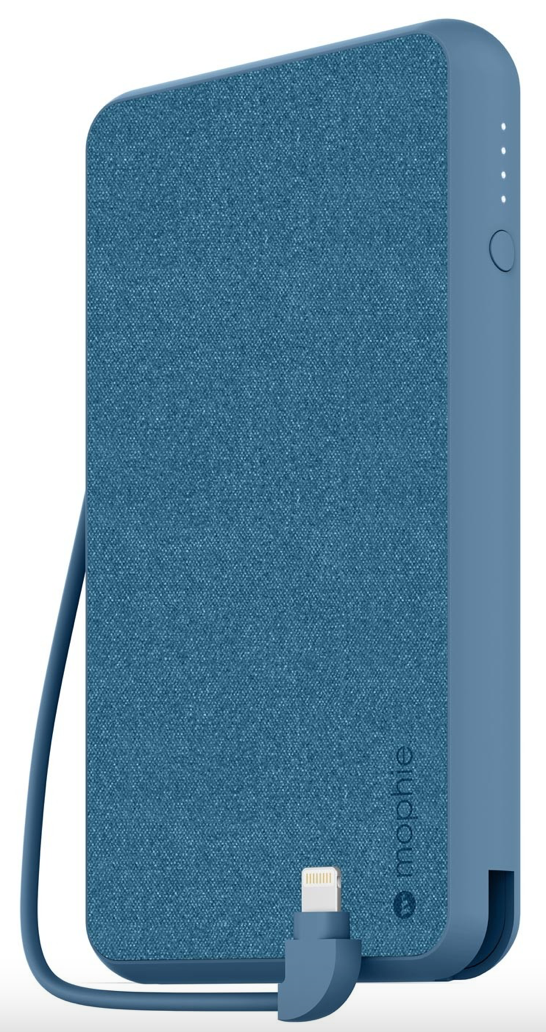 MOPHIE Power Station 10k mAh - Lightening Cable - Slate Blue