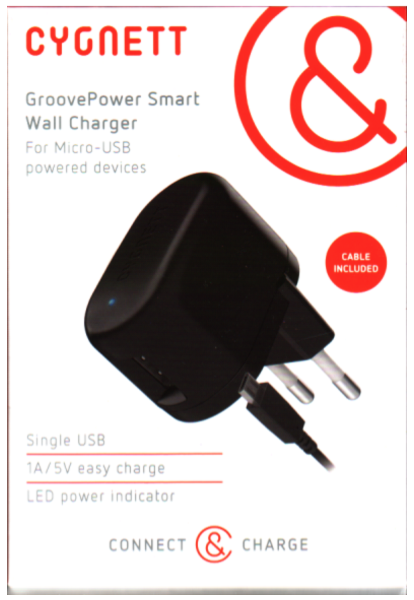 Cygnett-GroovePower-Smart-1A-USB-Wall-Charger-EU-2PIN