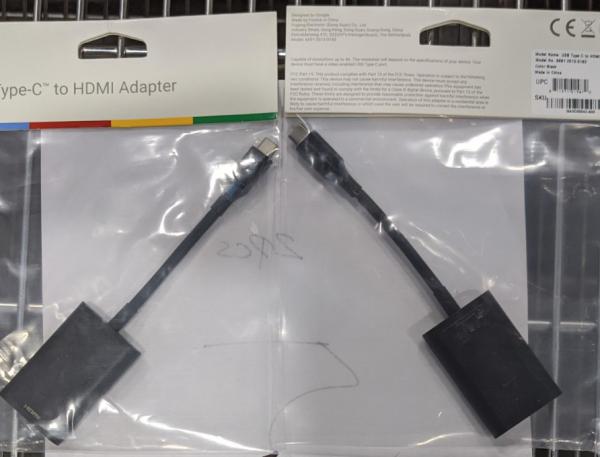 GOOGLE 6691-2013-0183 BLACK ADAPTER USB TYPE-C
